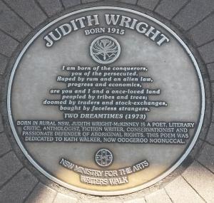 JudithWrightPlaque